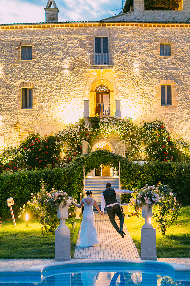 Italy Umbria small luxury hotel wedding venue facade