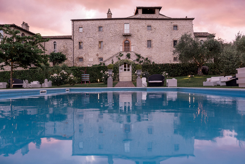 Italy Umbria small luxury hotel wedding venue