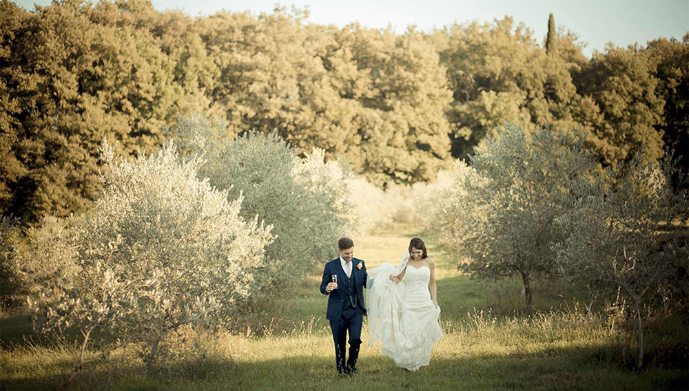 Castle in Siena countryside wedding venue overview