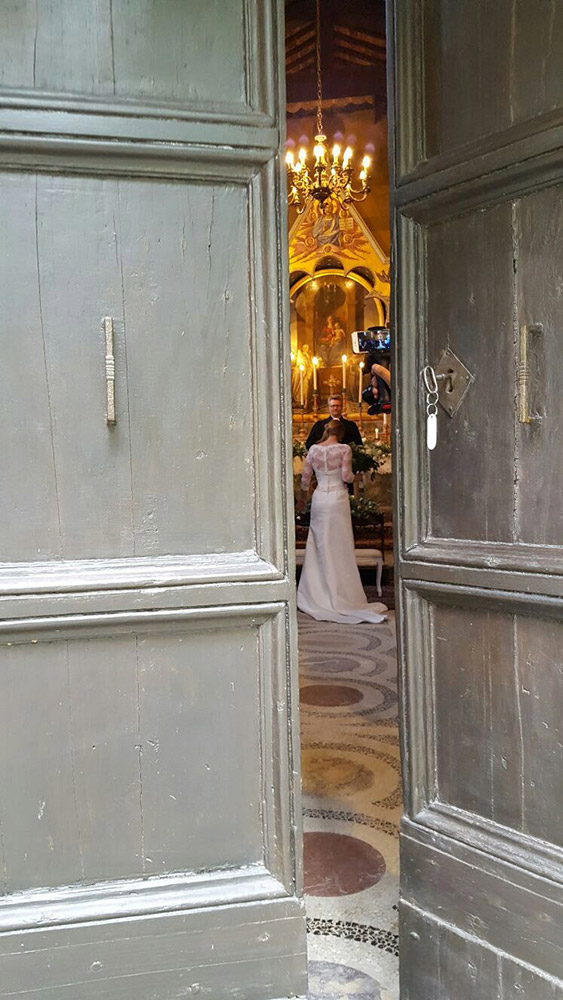 Castle in Siena countryside wedding venue blessing