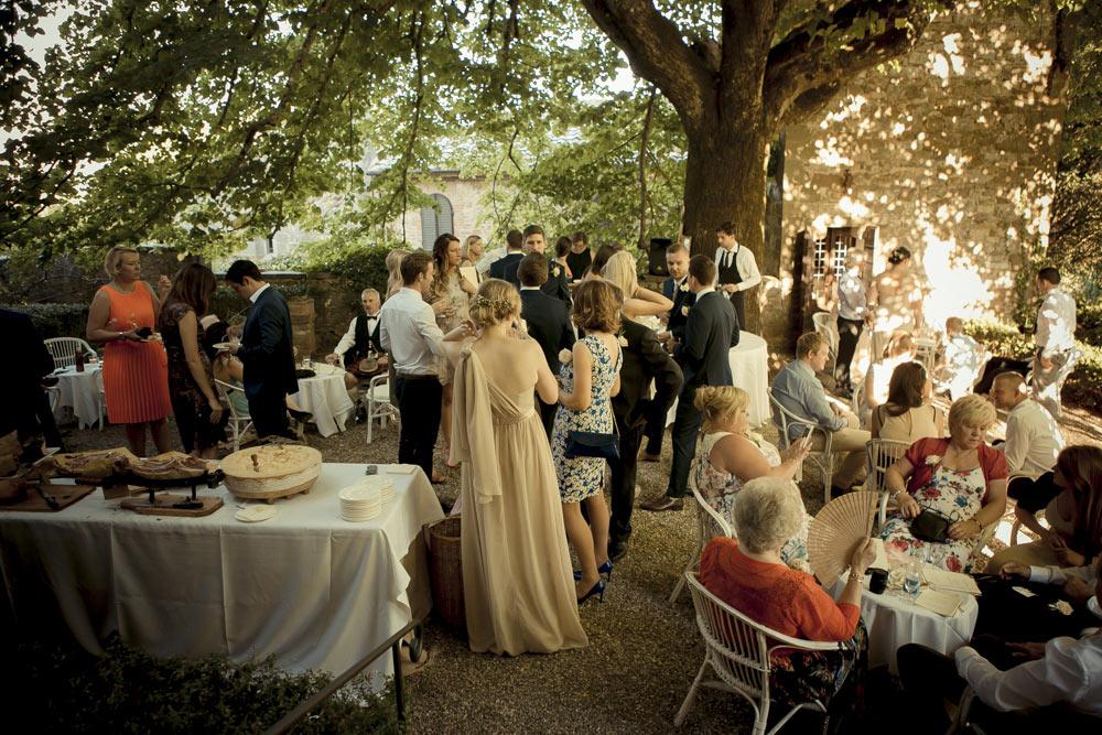 Castle in Siena countryside wedding venue