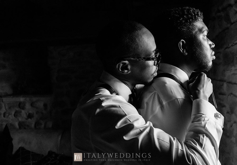 Shakirah and Matthew, Christian blessing near San Gimignano, Tuscany