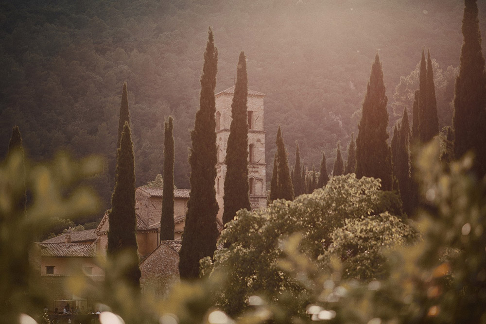 Abbey in southern Umbria wedding venue