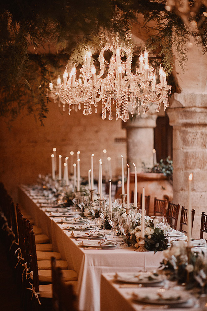 Abbey in southern Umbria wedding venue meal