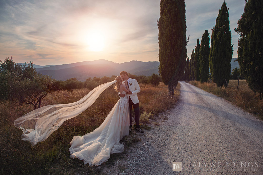 A blessing in Umbria private villa ceremony