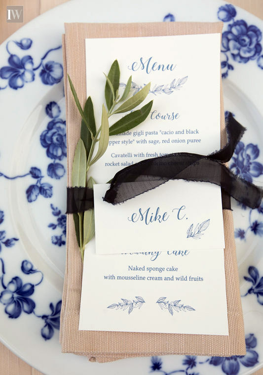 A blessing in Umbria private villa ceremony menu
